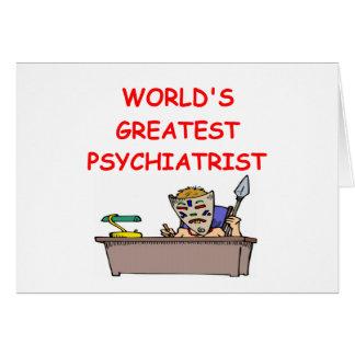 world's greatest psychiatrist greeting card