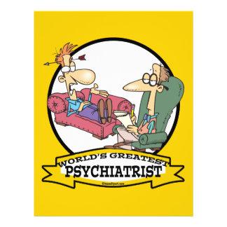 WORLDS GREATEST PSYCHIATRIST CARTOON 21.5 CM X 28 CM FLYER