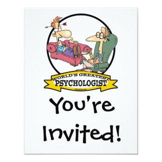 WORLDS GREATEST PSYCHOLOGIST MEN CARTOON 11 CM X 14 CM INVITATION CARD