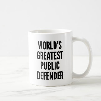 Worlds Greatest Public Defender Coffee Mug