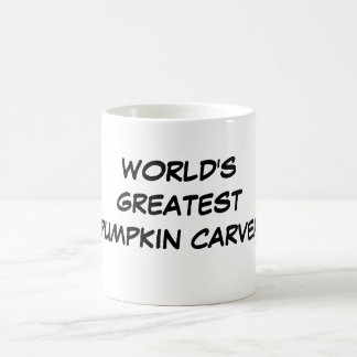 """World's Greatest Pumpkin Carver"" Mug"