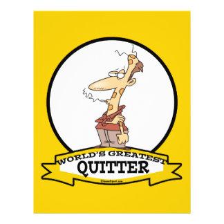 WORLDS GREATEST QUITTER SMOKER CARTOON FLYER