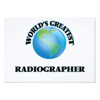 World's Greatest Radiographer Personalized Announcement