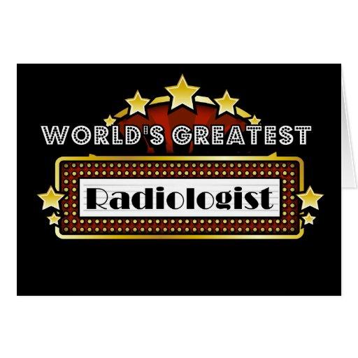 World's Greatest Radiologist Card