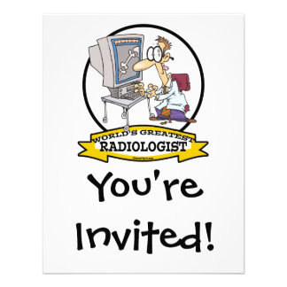 WORLDS GREATEST RADIOLOGIST MEN CARTOON CUSTOM INVITE