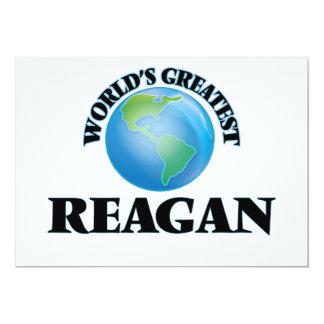 World's Greatest Reagan 13 Cm X 18 Cm Invitation Card