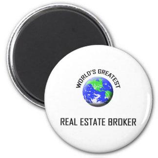 World's Greatest Real Estate Broker 6 Cm Round Magnet