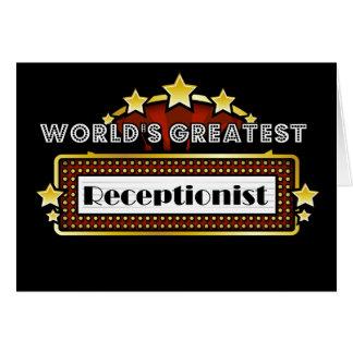 World's Greatest Receptionist Card