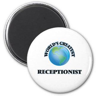 World's Greatest Receptionist Fridge Magnets