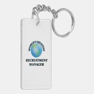 World's Greatest Recruitment Manager Rectangle Acrylic Keychain