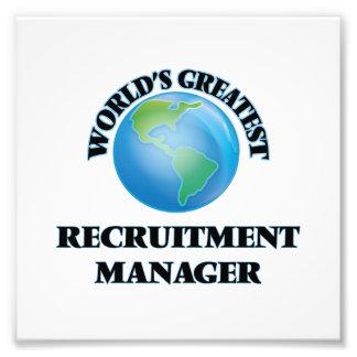 World's Greatest Recruitment Manager Art Photo