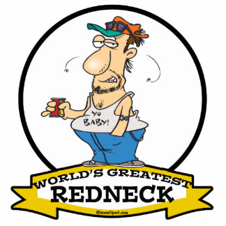WORLDS GREATEST REDNECK II CARTOON STANDING PHOTO SCULPTURE