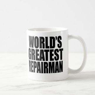 World's Greatest Repairman Classic White Coffee Mug