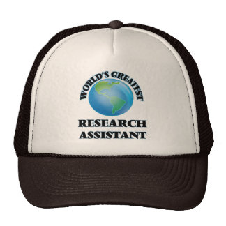 World's Greatest Research Assistant Mesh Hat