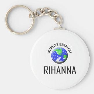 World's Greatest Rihanna Basic Round Button Key Ring