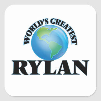 World's Greatest Rylan Square Sticker