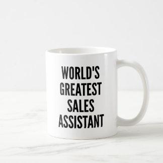 Worlds Greatest Sales Assistant Basic White Mug