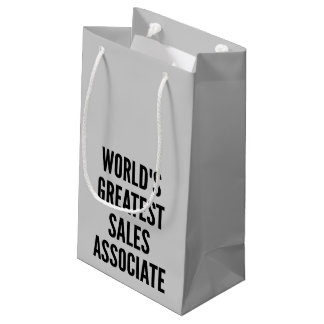 Worlds Greatest Sales Associate Small Gift Bag