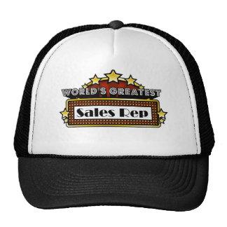 World's Greatest Sales Rep Trucker Hats