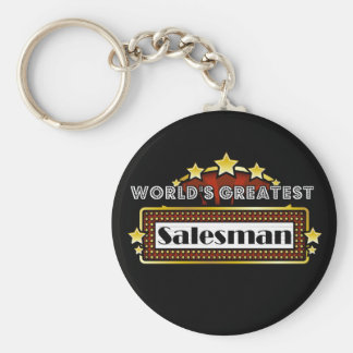 World's Greatest Salesman Basic Round Button Key Ring