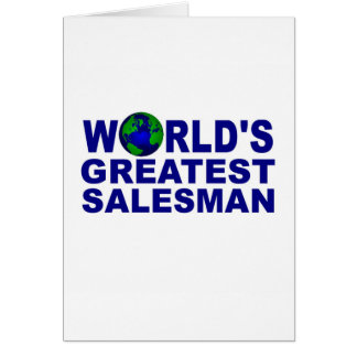 World's Greatest Salesman Greeting Card