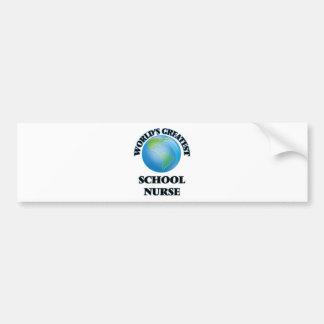 World's Greatest School Nurse Bumper Stickers
