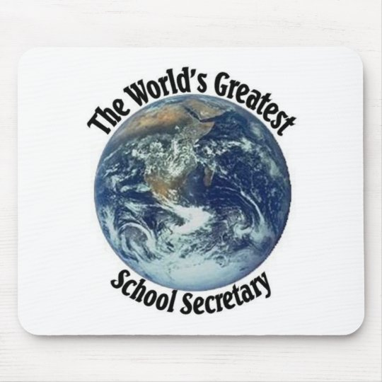 World's Greatest School Secretary Mouse Mat