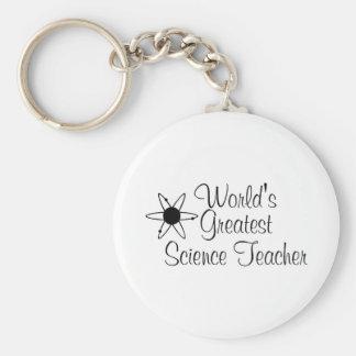 Worlds Greatest Science Teacher 2 Basic Round Button Key Ring