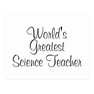 Worlds Greatest Science Teacher Postcard