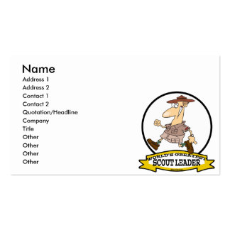 WORLDS GREATEST SCOUT LEADER MEN CARTOON PACK OF STANDARD BUSINESS CARDS