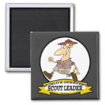 WORLDS GREATEST SCOUT LEADER MEN CARTOON SQUARE MAGNET
