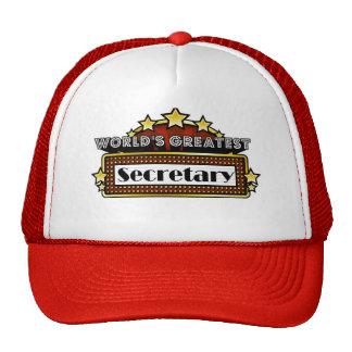 World's Greatest Secretary Cap