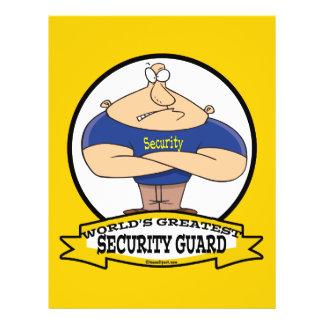 WORLDS GREATEST SECURITY GUARD MEN CARTOON 21.5 CM X 28 CM FLYER