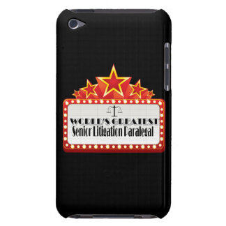 World's Greatest Senior Litigation Paralegal iPod Touch Covers