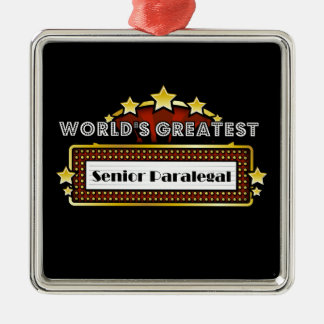 World's Greatest Senior Paralegal Christmas Ornament