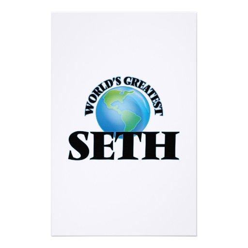World's Greatest Seth Custom Stationery