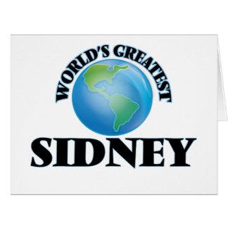 World's Greatest Sidney Big Greeting Card