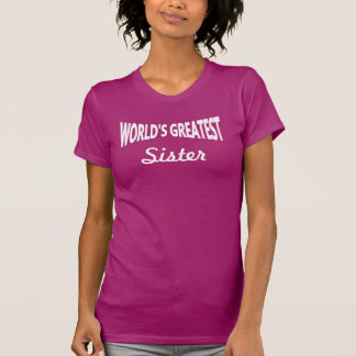 Worlds Greatest Sister DIY Template Tee Shirt