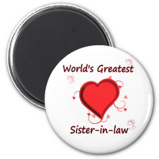 World's Greatest sister-in-law 6 Cm Round Magnet