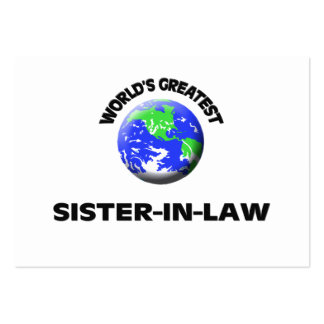 World's Greatest Sister-In-Law Business Card Template