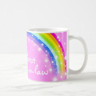 """World's greatest Sister-in-law"" rainbow pink mug"