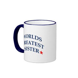 Worlds Greatest Sister Ringer Mug