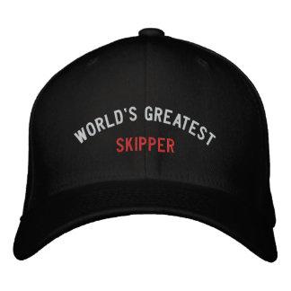WORLD'S GREATEST, SKIPPER EMBROIDERED BASEBALL CAP