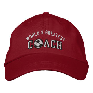 World's Greatest Soccer Coach Embroidered Hats