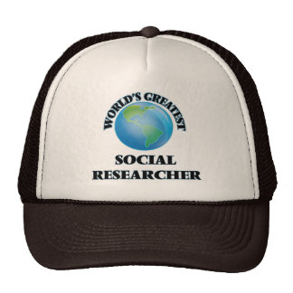 World's Greatest Social Researcher Mesh Hats