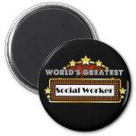 World's Greatest Social Worker 6 Cm Round Magnet