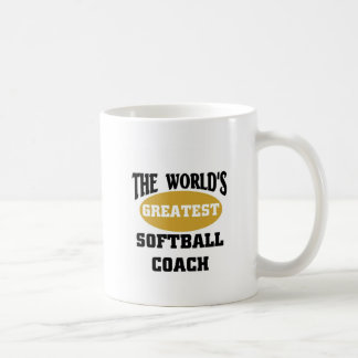 World's greatest softball coach coffee mug