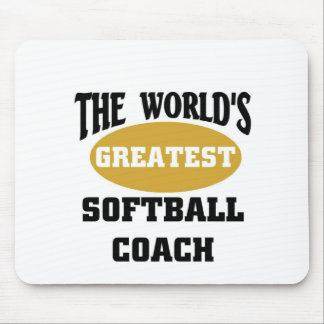 World's greatest softball coach mouse mats