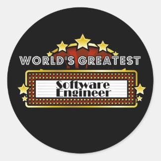 World's Greatest Software Engineer Round Stickers