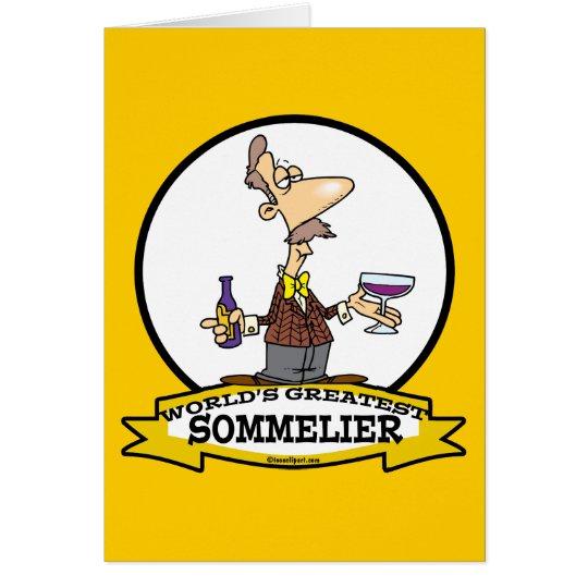 WORLDS GREATEST SOMMELIER CARTOON CARD